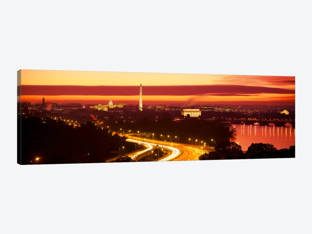 SunsetAerial, Washington DC, District of Columbia, USA by Panoramic Images 1-piece Canvas Artwork