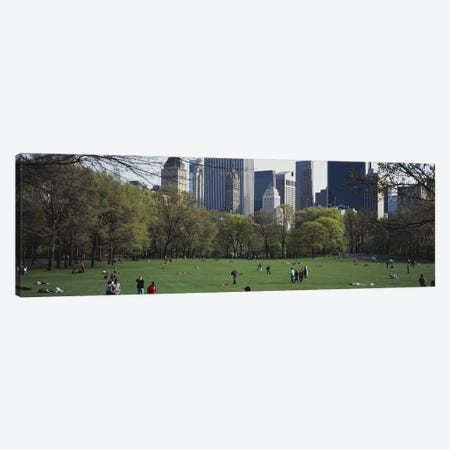 Group of people in a park, Central Park, Manhattan, New York City, New York State, USA Canvas Print #PIM5143} by Panoramic Images Canvas Print
