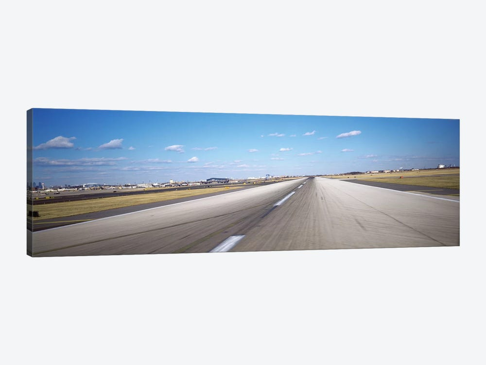 Runway at an airport, Philadelphia Airport, New York State, USA by Panoramic Images 1-piece Canvas Art