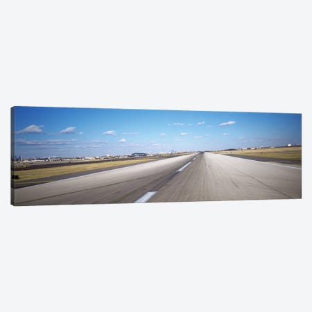 Runway at an airport, Philadelphia Airport, New York State, USA Canvas Print #PIM5145} by Panoramic Images Canvas Art