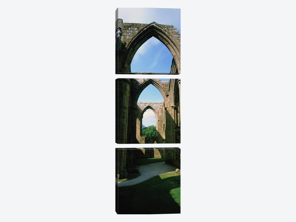 Low angle view of an archway, Bolton Abbey, Yorkshire, England by Panoramic Images 3-piece Canvas Wall Art