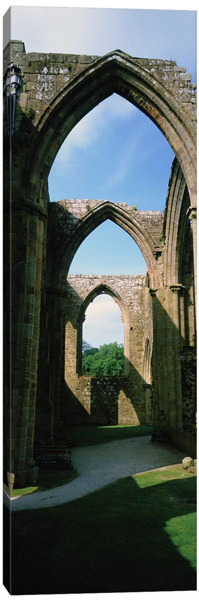 Low angle view of an archway, Bolton Abbey, Yorkshire, England Canvas Art Print