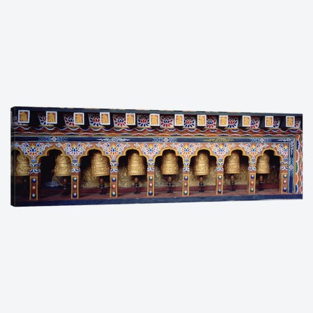 Prayer Wheels In A Temple, Chimi Lhakhang, Punakha, Bhutan Canvas Print #PIM5150} by Panoramic Images Canvas Wall Art