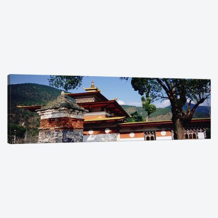 Temple In A City, Chimi Lhakhang, Punakha, Bhutan Canvas Print #PIM5151} by Panoramic Images Canvas Art