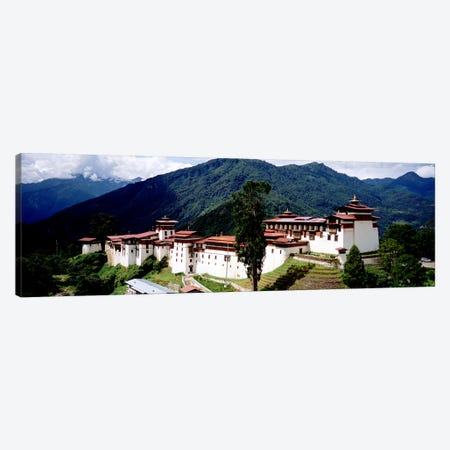 Castle On A Mountain, Trongsar Dzong, Trongsar, Bhutan Canvas Print #PIM5154} by Panoramic Images Art Print
