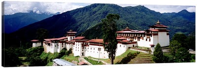 Castle On A Mountain, Trongsar Dzong, Trongsar, Bhutan Canvas Art Print