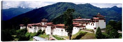Castle On A Mountain, Trongsar Dzong, Trongsar, Bhutan Canvas Print #PIM5154