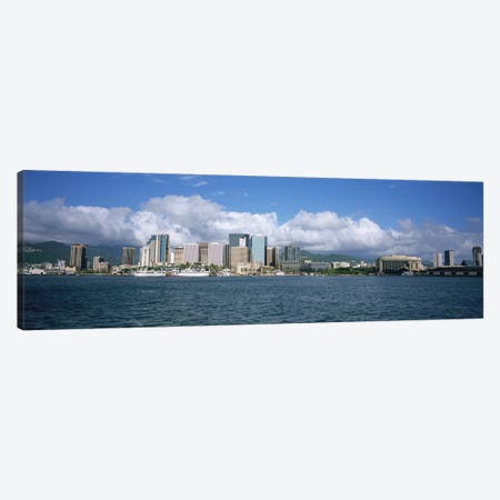 Buildings On The Waterfront, Downtown, Honolulu, Hawaii, USA Canvas Print #PIM5157} by Panoramic Images Art Print