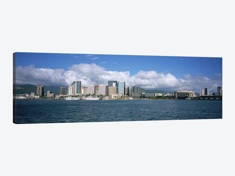 Buildings On The Waterfront, Downtown, Honolulu, Hawaii, USA by Panoramic Images 1-piece Canvas Print