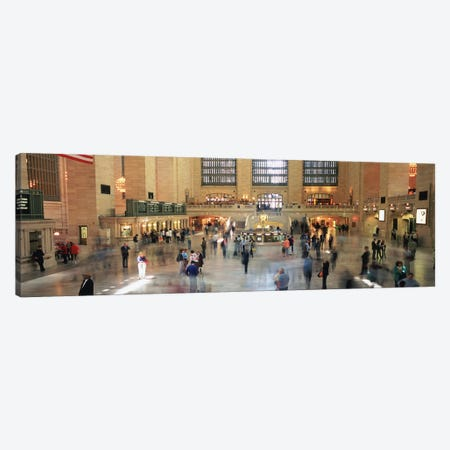 Main Concourse Passenger Action, Grand Central Terminal, New York City, New York, USA Canvas Print #PIM5158} by Panoramic Images Canvas Artwork