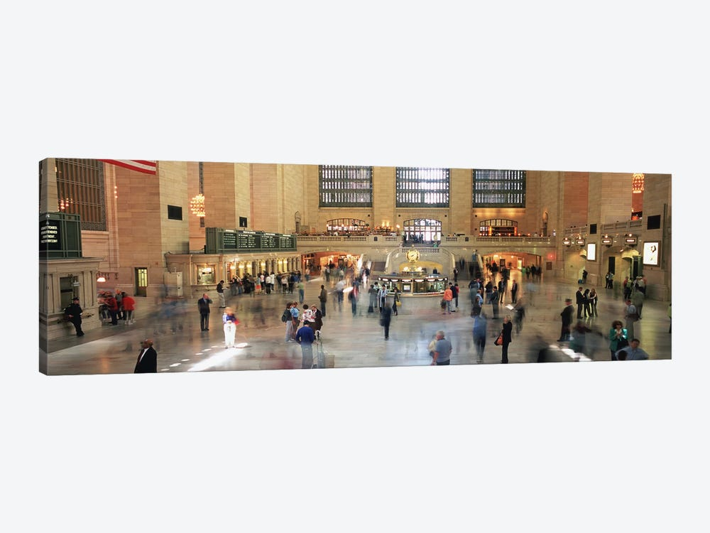 Main Concourse Passenger Action, Grand Central Terminal, New York City, New York, USA by Panoramic Images 1-piece Canvas Artwork