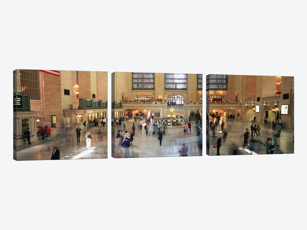 Main Concourse Passenger Action, Grand Central Terminal, New York City, New York, USA by Panoramic Images 3-piece Canvas Art
