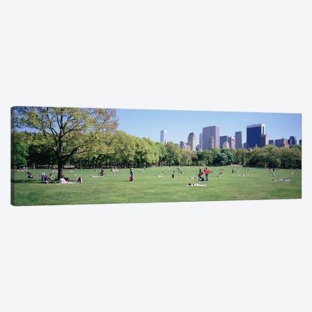 Group Of People In A Park, Sheep Meadow, Central Park, NYC, New York City, New York State, USA Canvas Print #PIM5159} by Panoramic Images Canvas Artwork