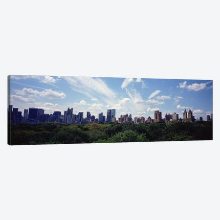 Skyscrapers In A City, Manhattan, NYC, New York City, New York State, USA Canvas Print #PIM5160} by Panoramic Images Art Print