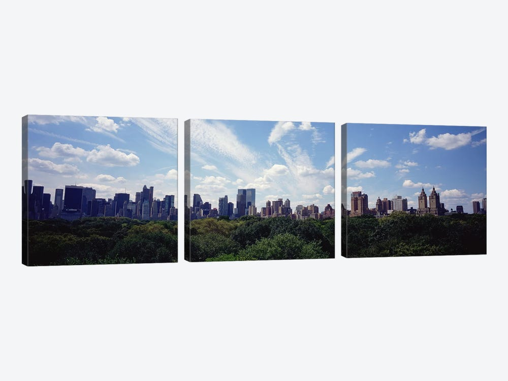 Skyscrapers In A City, Manhattan, NYC, New York City, New York State, USA by Panoramic Images 3-piece Canvas Art Print