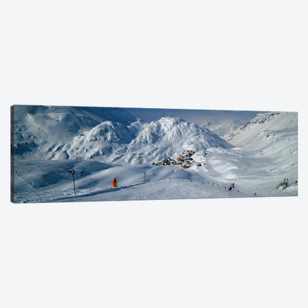 Rear view of a person skiing in snow, St. Christoph, Austria Canvas Print #PIM5168} by Panoramic Images Art Print