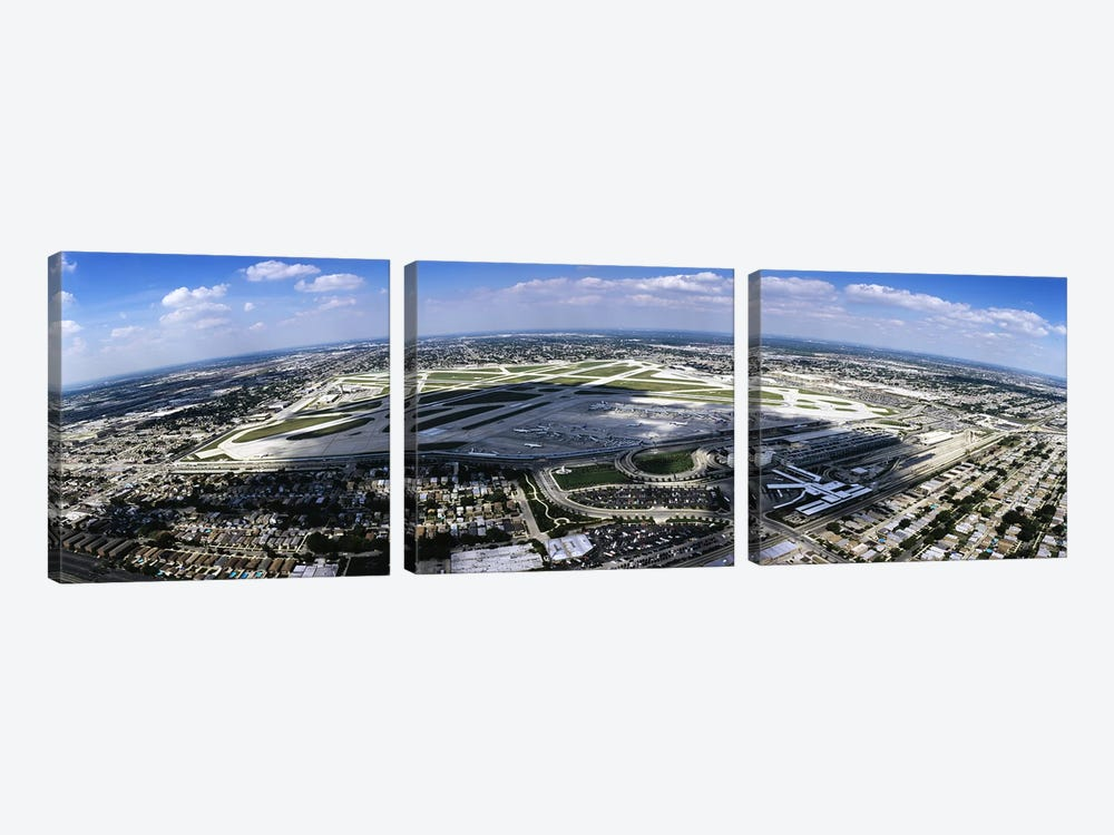 Aerial view of an airport, Midway Airport, Chicago, Illinois, USA 3-piece Canvas Art