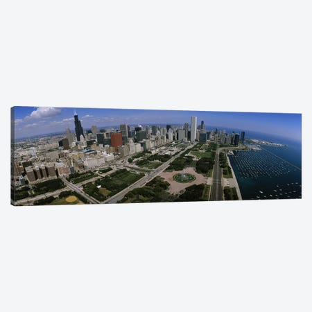 Skyscrapers in a city, Chicago, Illinois, USA Canvas Print #PIM5176} by Panoramic Images Canvas Art Print