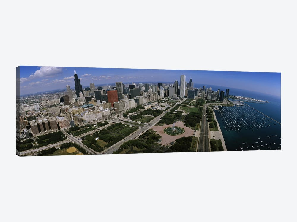 Skyscrapers in a city, Chicago, Illinois, USA by Panoramic Images 1-piece Canvas Artwork