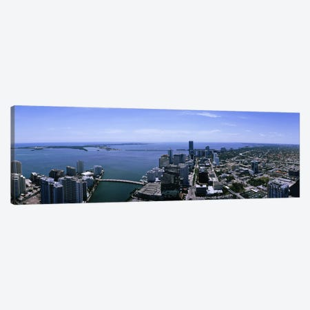 Aerial view of a city, Miami, Florida, USA Canvas Print #PIM5177} by Panoramic Images Art Print