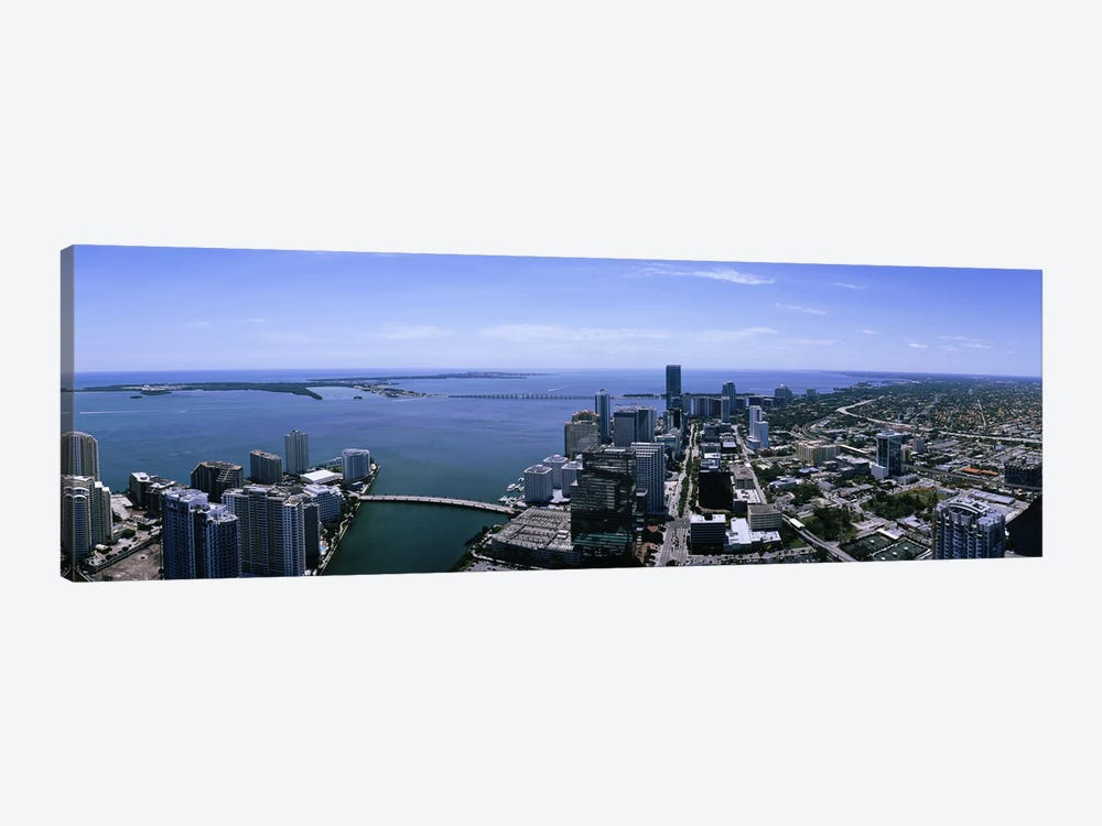 Aerial view of a city, Miami, Florida, USA by Panoramic Images 1-piece Canvas Art Print