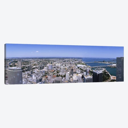 Aerial view of a city, Miami, Florida, USA #2 Canvas Print #PIM5178} by Panoramic Images Canvas Wall Art