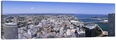 Aerial view of a city, Miami, Florida, USA #2 Canvas Art Print