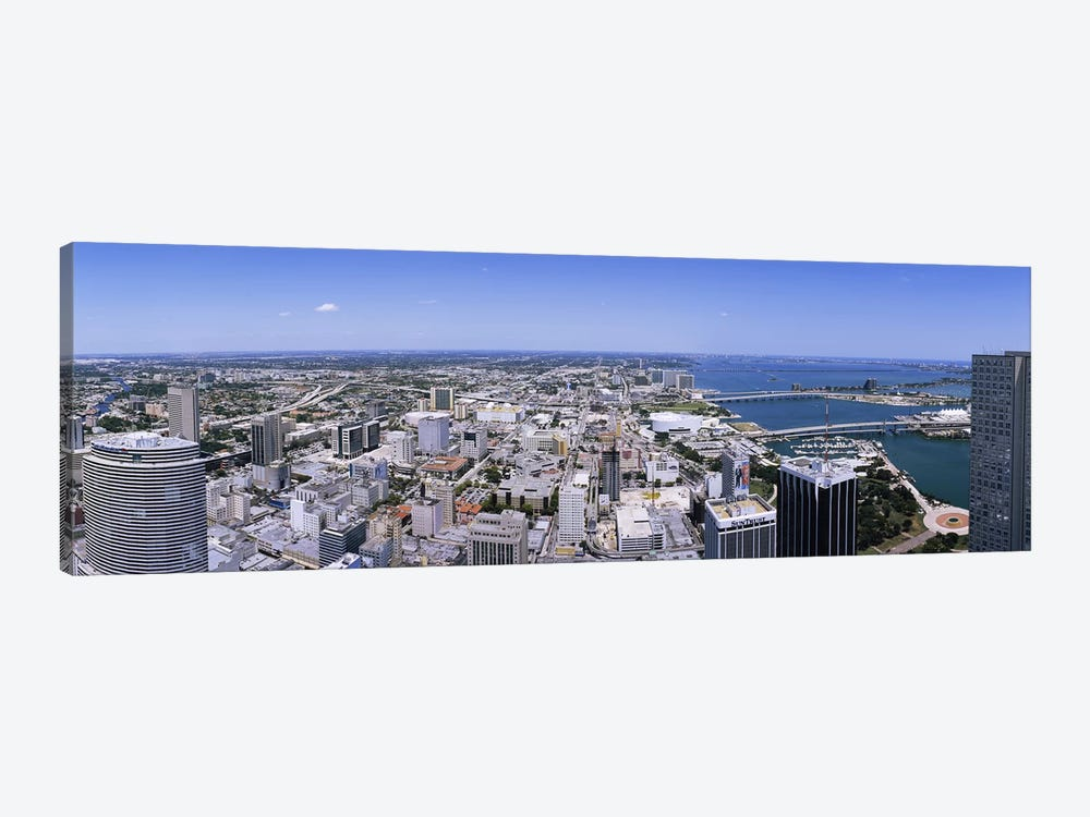 Aerial view of a city, Miami, Florida, USA #2 by Panoramic Images 1-piece Canvas Art