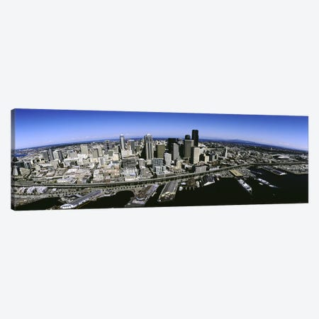 Aerial view of a city, Seattle, Washington State, USA Canvas Print #PIM5179} by Panoramic Images Canvas Wall Art