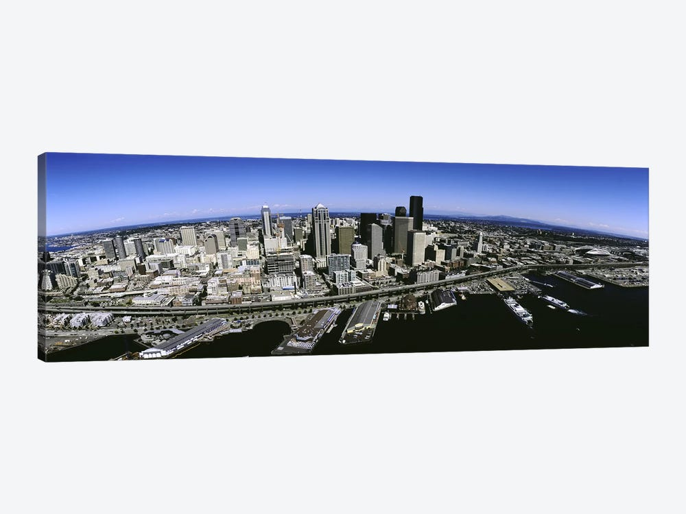 Aerial view of a city, Seattle, Washington State, USA by Panoramic Images 1-piece Art Print