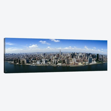 Aerial view of a cityManhattan, New York City, New York State, USA Canvas Print #PIM5180} by Panoramic Images Canvas Print