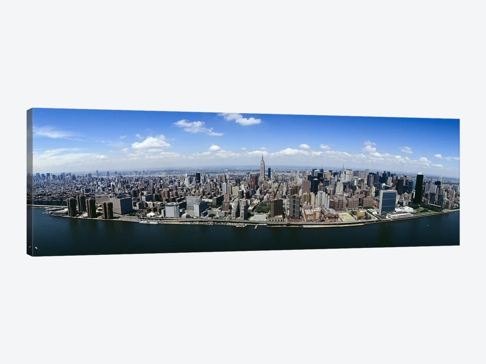 Aerial view of a cityManhattan, New York City, New York State, USA by Panoramic Images 1-piece Canvas Art Print