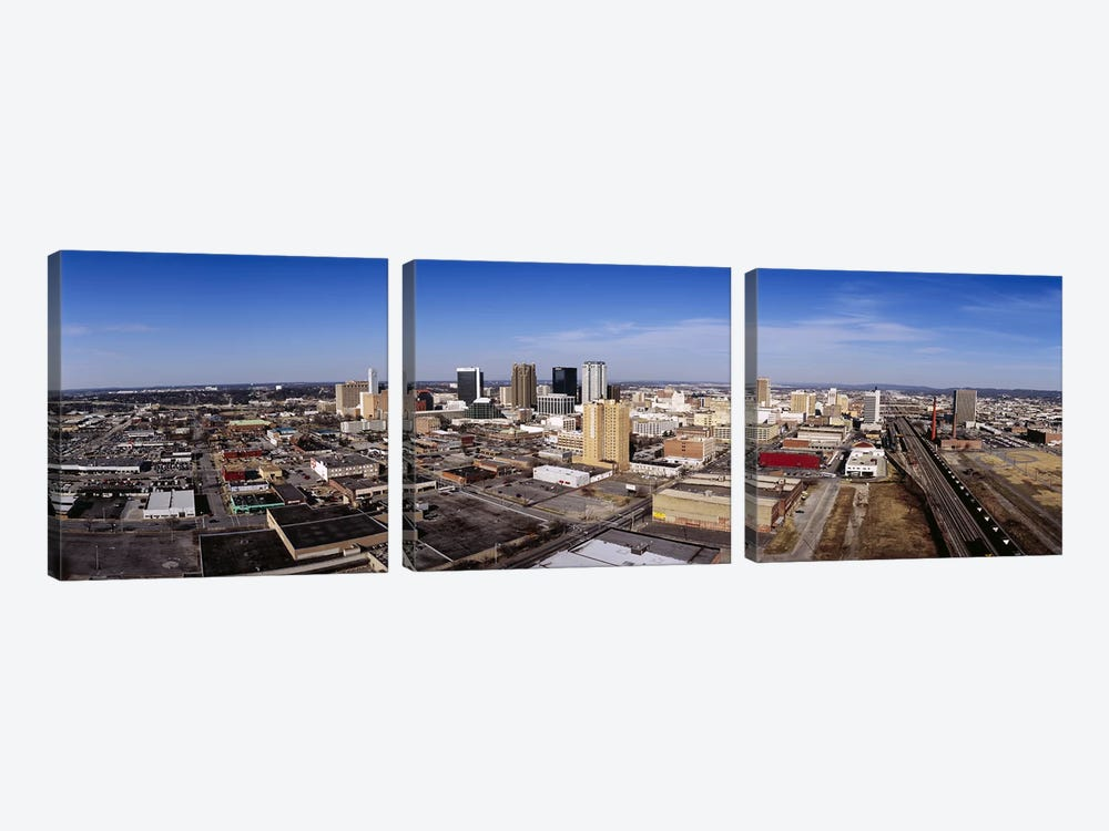Aerial view of a cityBirmingham, Alabama, USA by Panoramic Images 3-piece Canvas Art