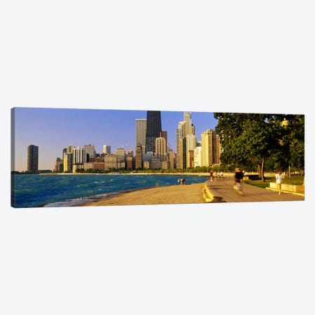 Group of people joggingChicago, Illinois, USA Canvas Print #PIM5182} by Panoramic Images Canvas Print