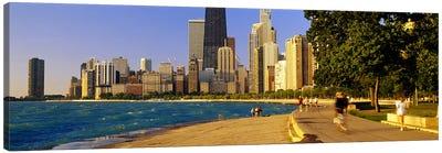 Group of people joggingChicago, Illinois, USA Canvas Print #PIM5182