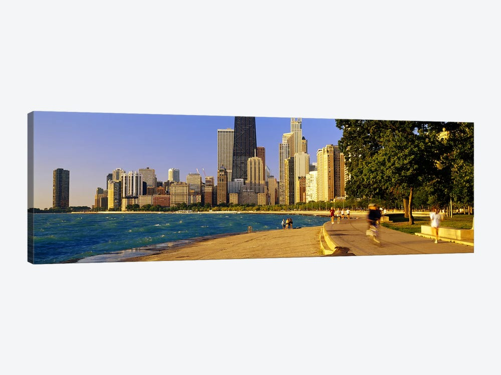 Group of people joggingChicago, Illinois, USA by Panoramic Images 1-piece Art Print