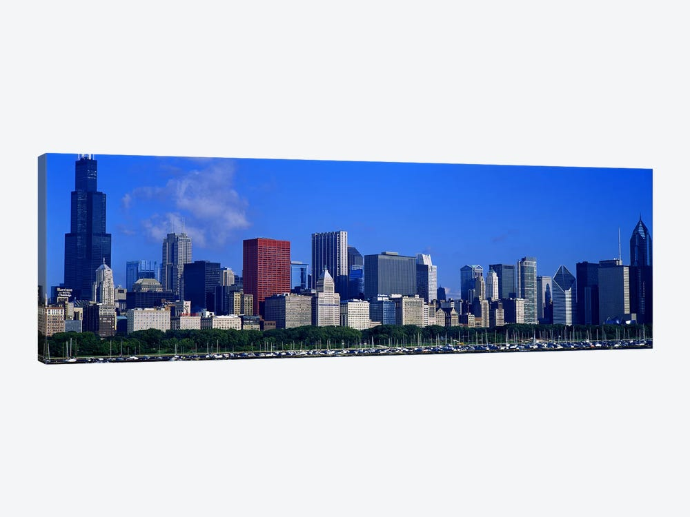 Skyscrapers in a cityChicago, Illinois, USA by Panoramic Images 1-piece Canvas Artwork