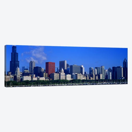 Skyscrapers in a cityChicago, Illinois, USA Canvas Print #PIM5183} by Panoramic Images Art Print
