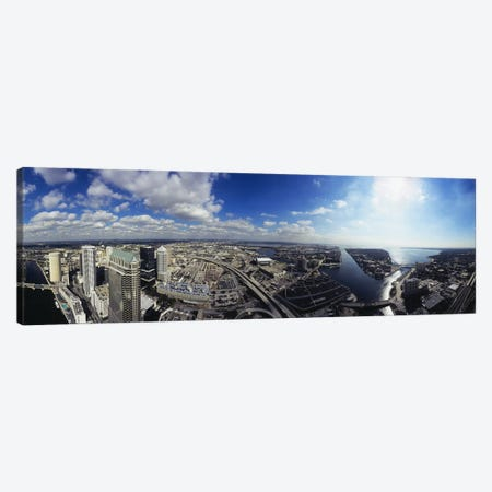 360 degree view of a cityTampa, Hillsborough County, Florida, USA Canvas Print #PIM5184} by Panoramic Images Canvas Wall Art