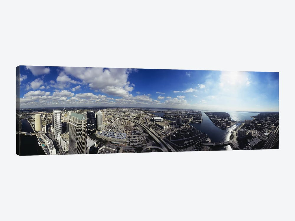 360 degree view of a cityTampa, Hillsborough County, Florida, USA by Panoramic Images 1-piece Canvas Print