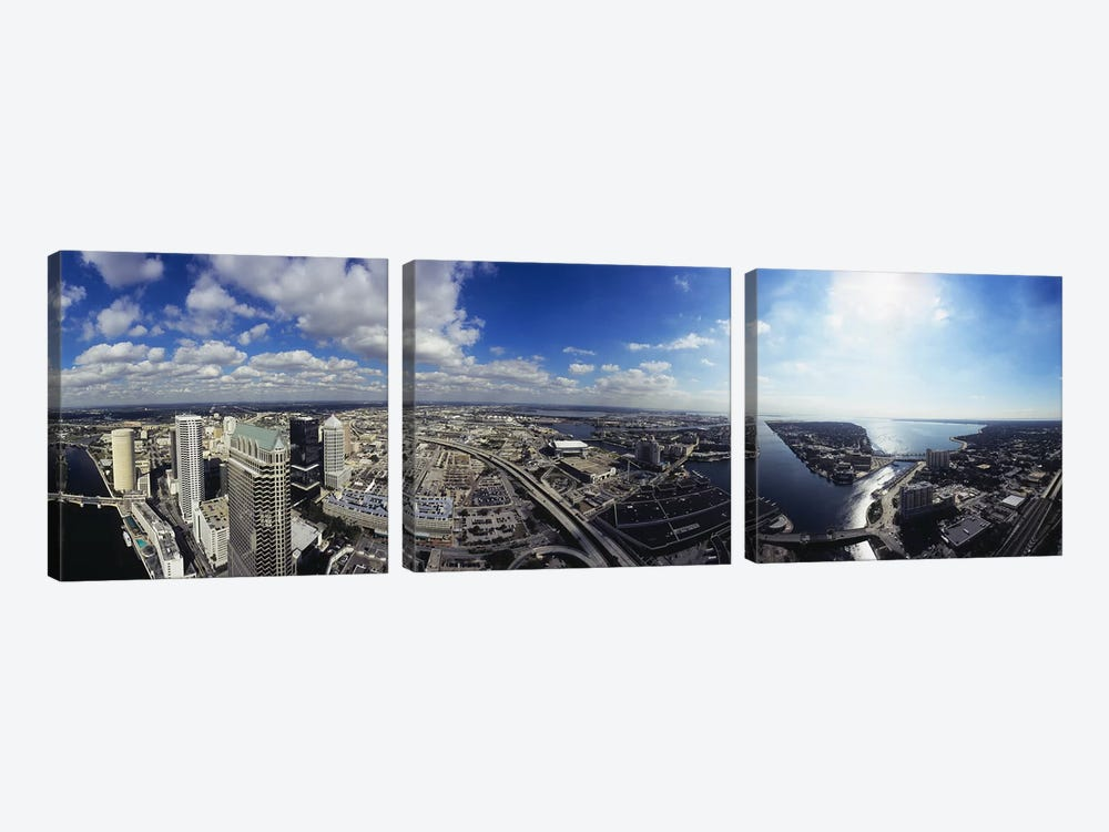 360 degree view of a cityTampa, Hillsborough County, Florida, USA by Panoramic Images 3-piece Canvas Print