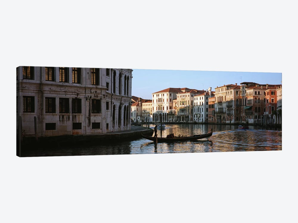 Vessels On The Move, Grand Canal, Venice, Italy by Panoramic Images 1-piece Canvas Artwork