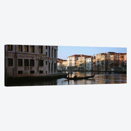 Vessels On The Move, Grand Canal, Venice, Italy Canvas Print #PIM5190} by Panoramic Images Canvas Artwork