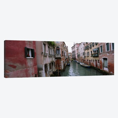 Buildings Along The Canal, Grand Canal, Venice, Italy Canvas Print #PIM5193} by Panoramic Images Canvas Art