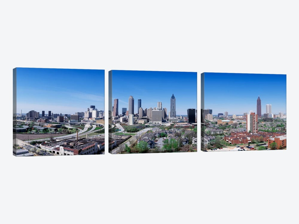 USA, Georgia, Atlanta, skyline 3-piece Canvas Art