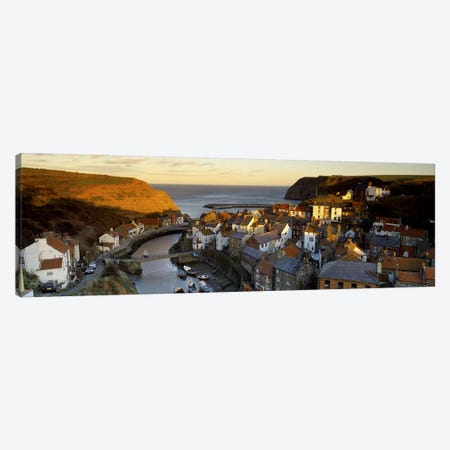 Coastal Landscape, Staithes, North Yorkshire, England, United Kingdom Canvas Print #PIM5209} by Panoramic Images Canvas Art