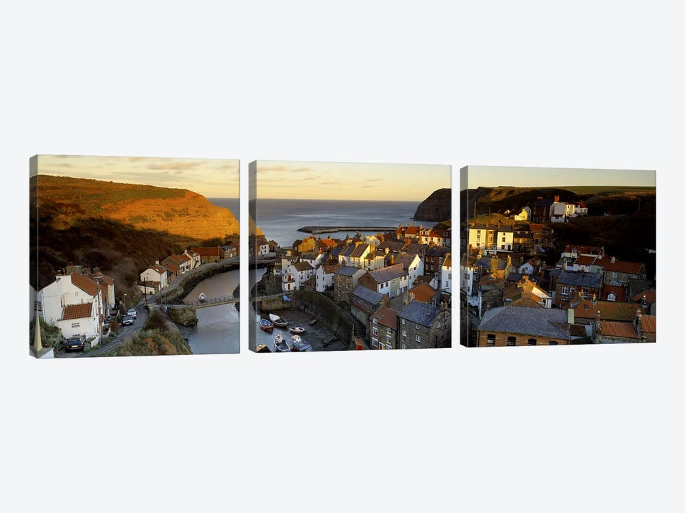 Coastal Landscape, Staithes, North Yorkshire, England, United Kingdom by Panoramic Images 3-piece Canvas Wall Art