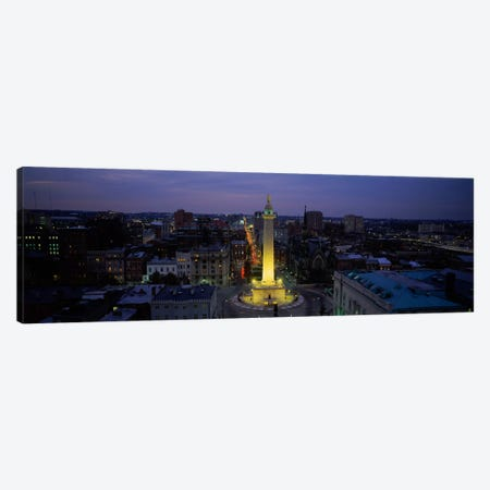 High angle view of a monument, Washington Monument, Mount Vernon Place, Baltimore, Maryland, USA Canvas Print #PIM520} by Panoramic Images Art Print