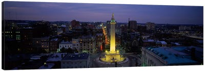 High angle view of a monument, Washington Monument, Mount Vernon Place, Baltimore, Maryland, USA Canvas Art Print