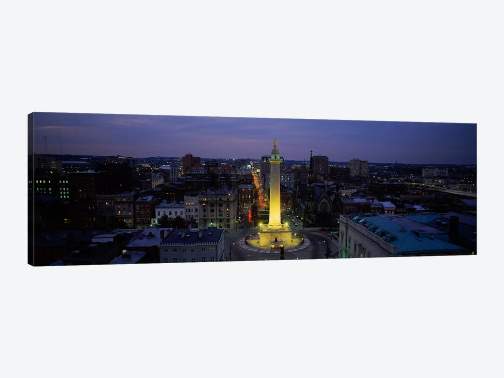 High angle view of a monument, Washington Monument, Mount Vernon Place, Baltimore, Maryland, USA by Panoramic Images 1-piece Canvas Artwork